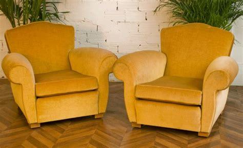 fauteuil club fauteuil salon 1950 vintage velours