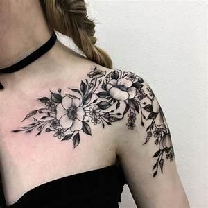 SHADING   Shoulder tattoos for women, Flower tattoo ...