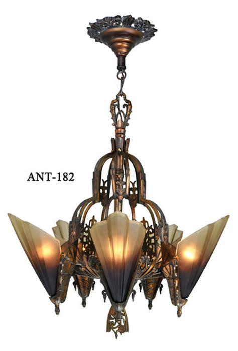 antique deco chandelier vintage hardware lighting antique deco slip shade