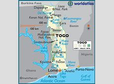 Togo Large Color Map