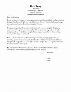 customer delivery teammate cover letter sample my With cover letter for automotive industry