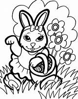 Bunny Coloring Pages Printable sketch template