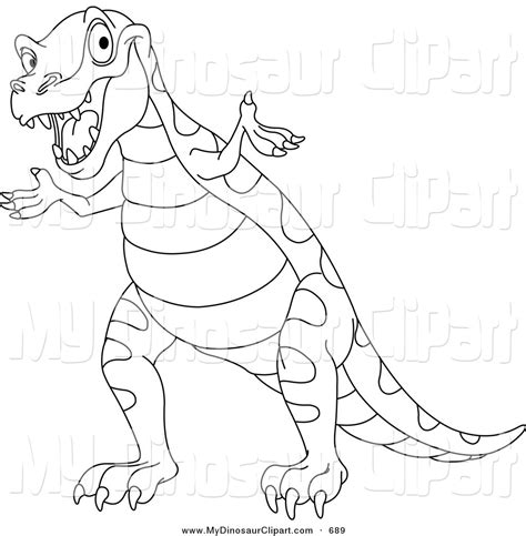 Tyrannosaurus Rex Clipart Dinosaur Outline Pencil And In