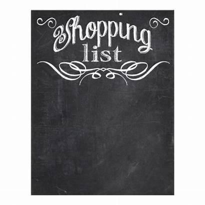 Chalkboard Shopping Chalk Blackboard Wall Grocery Lists