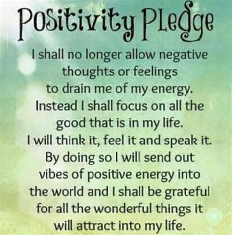 Positivity Pledge Pictures, Photos, And Images For Facebook, Tumblr, Pinterest, And Twitter
