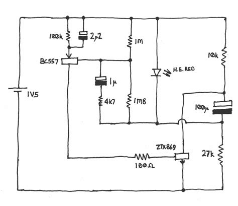 Year 9 Circuit Diagram by Circuit Diagram Schematic Of Single Cell Led Flasher