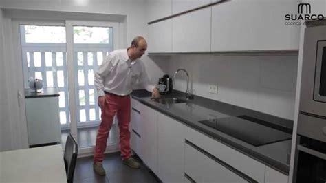 video cocinas modernas blancas sin tiradores youtube