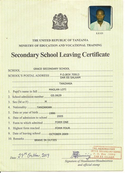 write  letter  school leaving certificate
