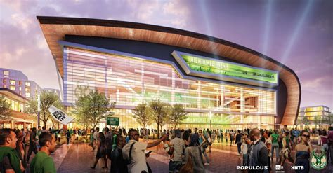 milwaukee bucks release  arena renderings panstadia