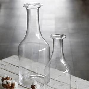 Grand Vase En Verre : grand vase bouteille en verre transparent vase design bruno evrard ~ Teatrodelosmanantiales.com Idées de Décoration