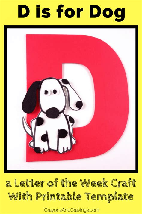 letter    dog craft  printable template