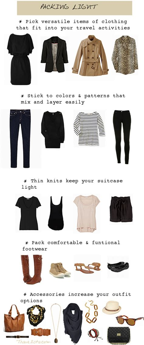 Tips For Packing Light Pack It Up Pack It In Dans Le