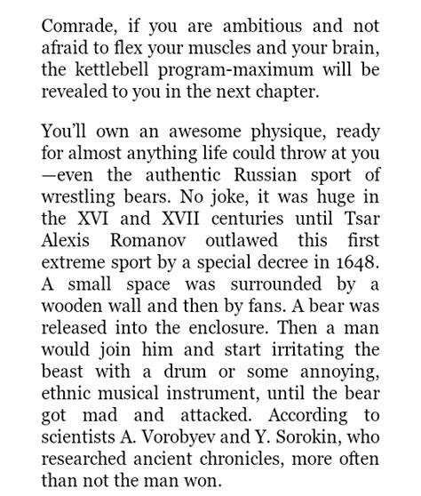 fitness kettlebell russian challenge secrets won any learned fight bear even