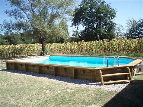 piscine bois semi ovale 6 40 fabricant de piscines en bois