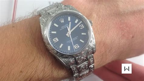 gunsmith engraved rolex oyster perpetual  luxury