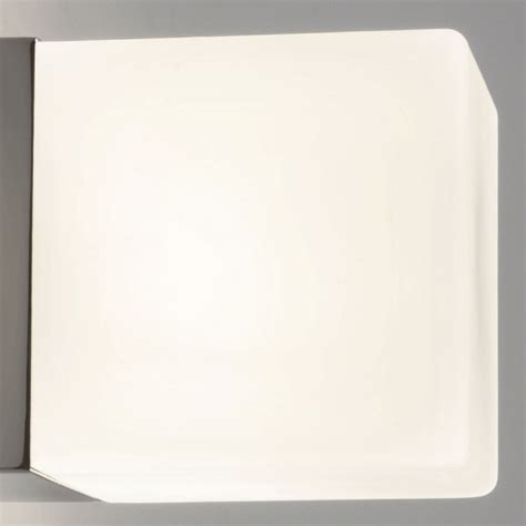astro lighting 1043 cube wall light sand blasted glass shade