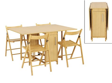 loisir cuisine ensemble modulable table 4 chaises emeline hêtre massif