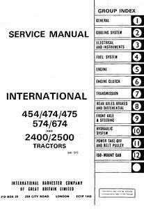 International 454  474  475  574 674 Tractor Service