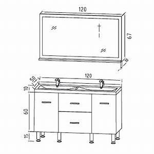 Dimension Lavabo Salle De Bain : dimension standard meuble double vasque table de lit ~ Premium-room.com Idées de Décoration