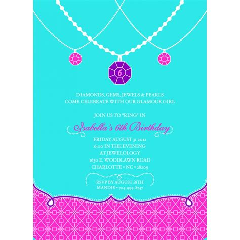 Party Invitations How To Create Jewelry Party Invitation
