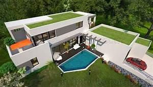 Plan Maison Contemporaine Toit Plat : maison contemporaine toit platd 39 architecte 165 villa contemporaine ~ Nature-et-papiers.com Idées de Décoration