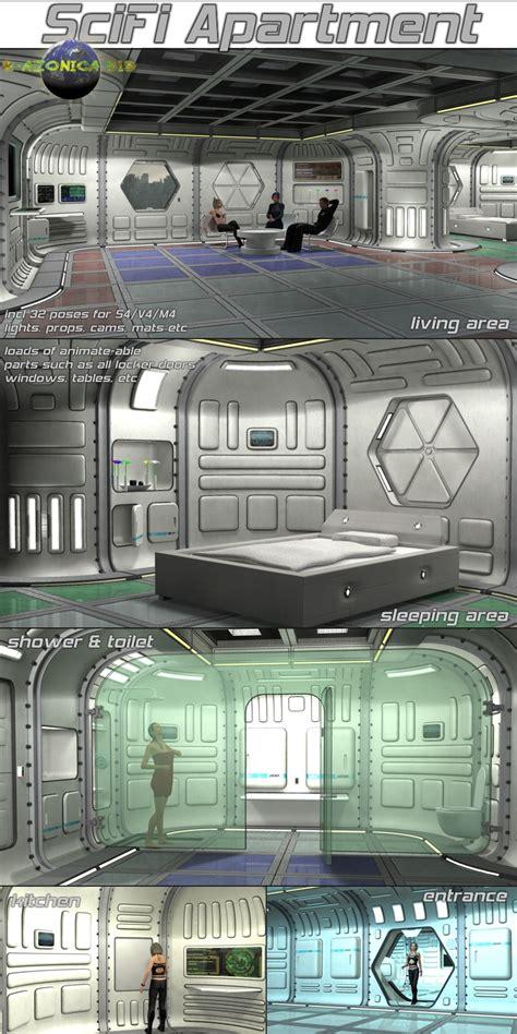 scifi apartment by 3dc 3d figure assets 3d models 3dc