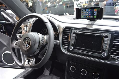 volkswagen debuts ibeetle  iphone integration