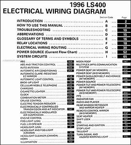 1996 Lexus Ls 400 Wiring Diagram Manual Original