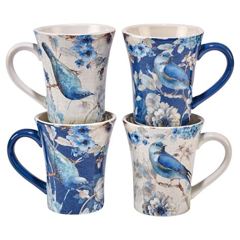 These coffee mugs hold up to 17 ounce of your favorite beverage, suitable for coffee, coca, tea, milk, chocolate with something added or whatever you would like in a mug. Certified International Indigold Lisa Audit Ceramic ...