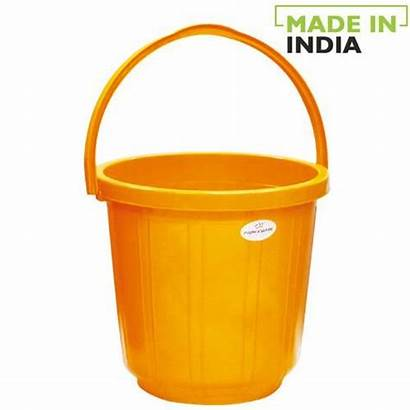 Plastic Bucket Yellow Handle Princeware Cleaning Mango