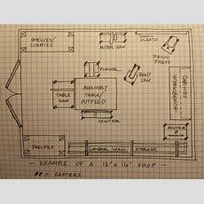 12 X 16 Wood Shop Layout  Google Search  Work Shop Plans