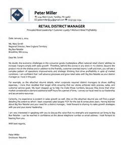District Manager Resume Cover Letter by Retail District Manager Executive Cover Letter