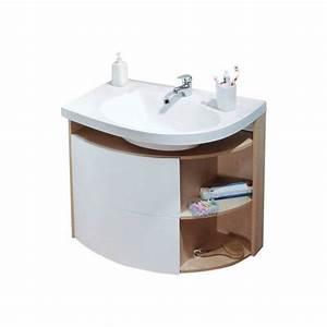 Meuble de salle de bain asymétrique Ravak Rosa