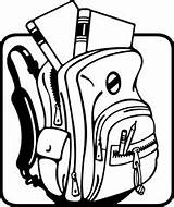 Backpack Clipart Open Drawing Bag Clipartmag sketch template