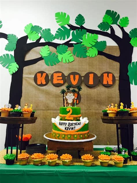 jungle themed birthday party  diy decorations