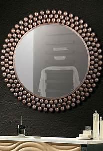 Spiegel Rund Kupfer : runder wandspiegel mit kupfer rahmen style modern in 2019 wandspiegel spiegel wandspiegel ~ Frokenaadalensverden.com Haus und Dekorationen