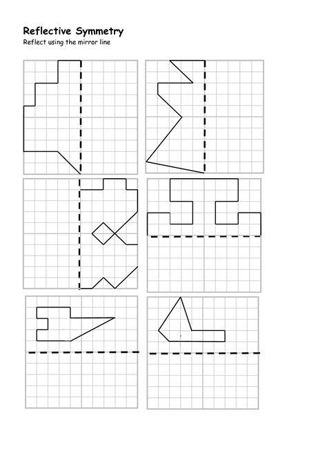 diagonal   symmetry worksheet printable worksheets