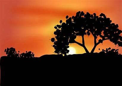Clipart Sunset Dawn Dusk Amanecer Landscape Road