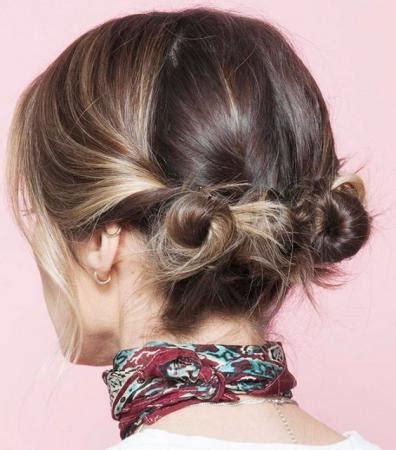 coiffure cheveux court attache coiffure simple  facile