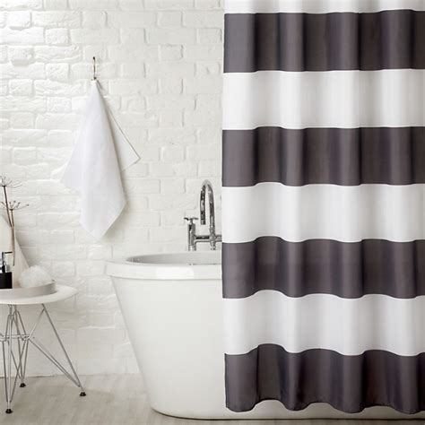 curtains ideas 187 black white shower curtain inspiring