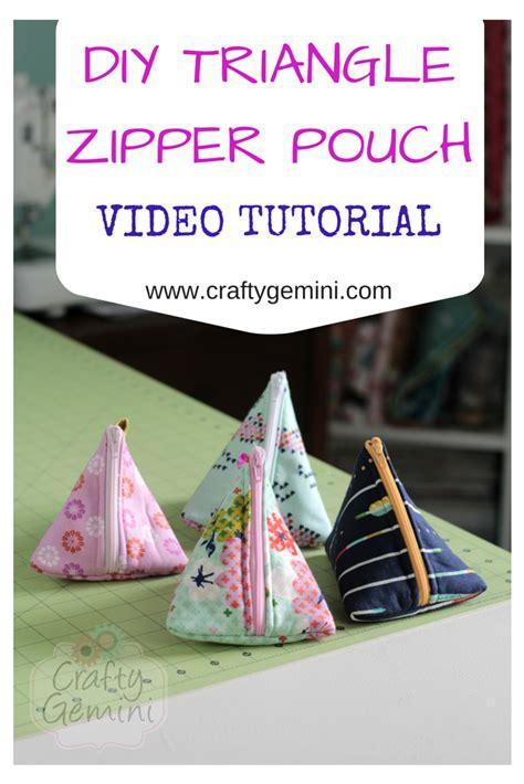 triangle zipper pouches video tutorial