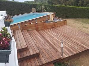 Bois Pour Terrasse Piscine : photos paradisiacq bois labenne piscine terrasse bois ~ Edinachiropracticcenter.com Idées de Décoration