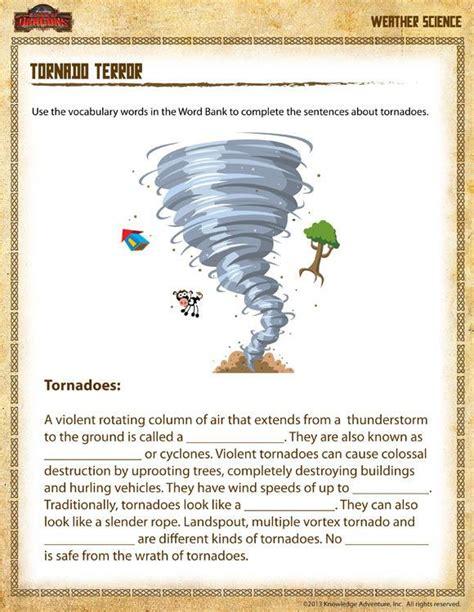 tornado science worksheets worksheets