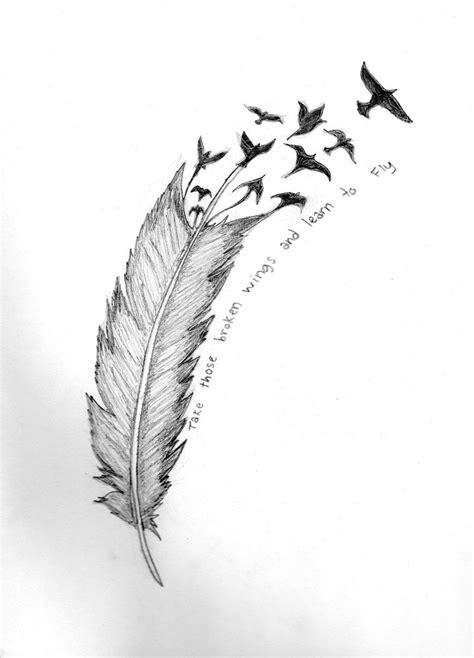 Creative Feather Bird Tattoo Photo - | TattooMagz › Tattoo