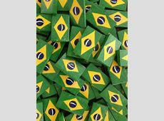ímã ''BandeiraBrasil'' Arteiras de Angra Artesanatos