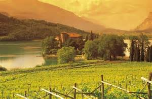 Italy Wine Country Lake