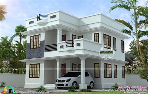 Neat and simple small house plan Kerala home design and