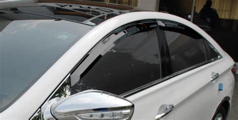 hyundai sonata window visors wind deflectors  pcs