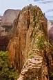 Angel`s Landing Hike stock image. Image of stone, park ...