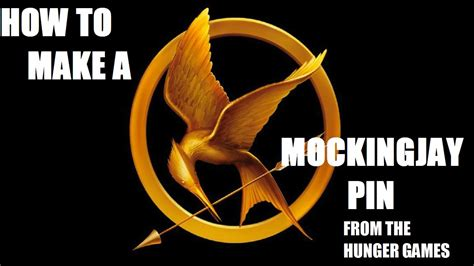 how to make hunger how to make a mockingjay pin from the hunger games youtube